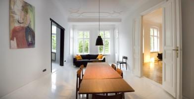 """1st living room. Painting """"Rainer von und zu Zufall"""" (2012) by Janne Räisänen"""
